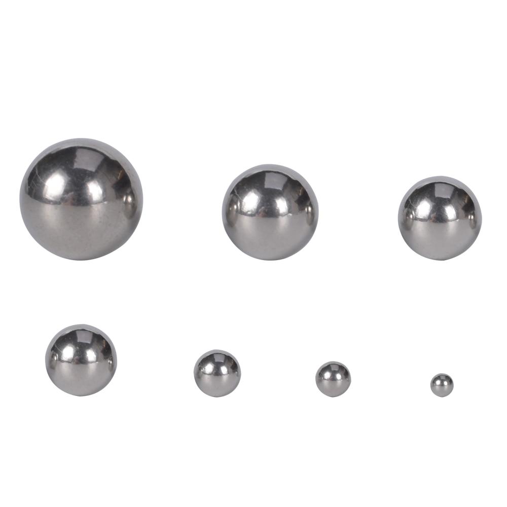 Бусины из нержавеющей стали без отверстий, 10-500 шт./лот, 2-10 мм, аксессуары для рукоделия «сделай сам», шарики для изготовления ювелирных издел...