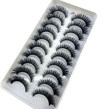 Extension Eyelash Mink-Lashes Long-Makeup Beauty Natural 10-Pairs 3d for NEW
