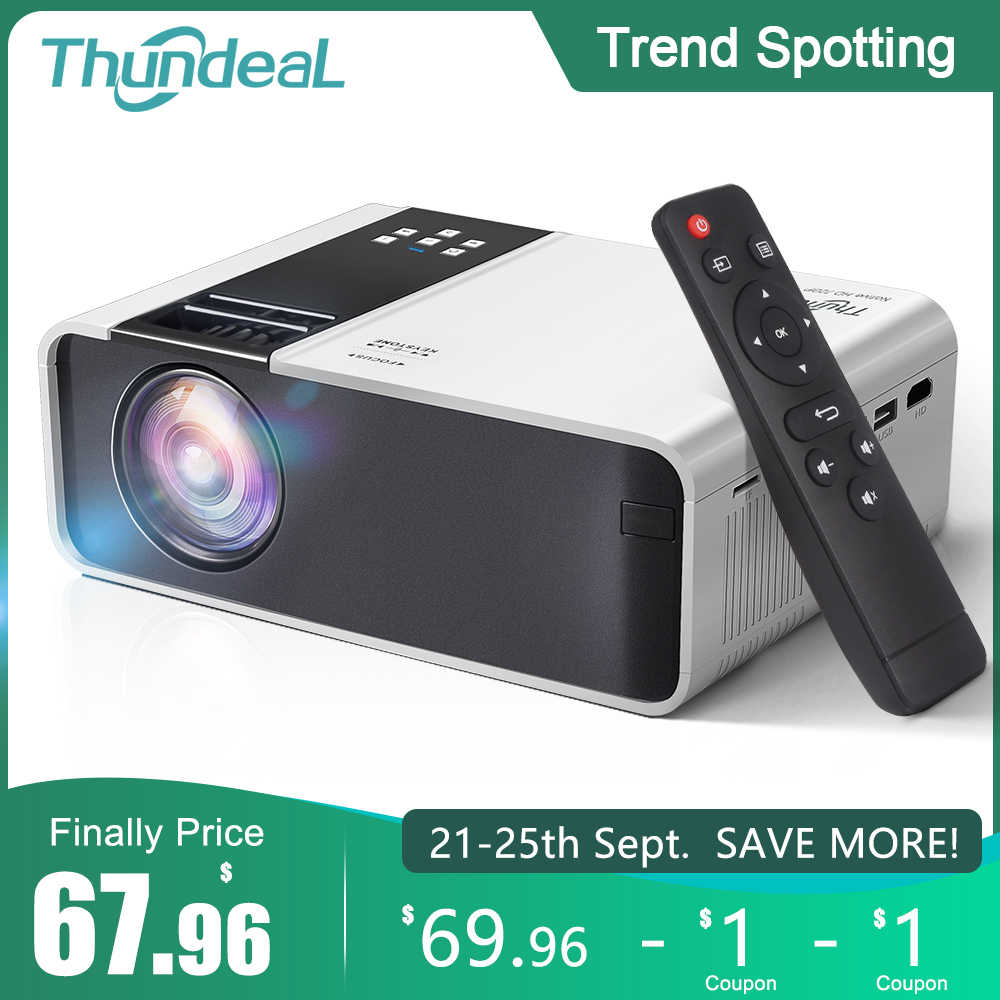 ThundeaL HD Mini Proyektor TD90 Asli 1280X720P LED Android WiFi Proyektor Video Home Cinema 3D HDMI Film permainan Projector