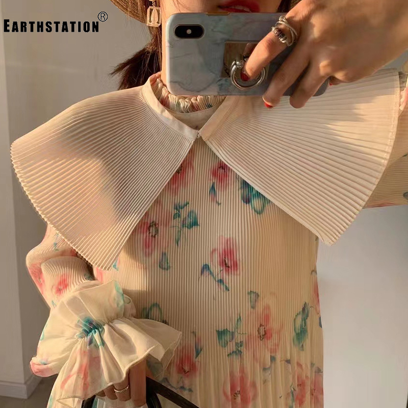 Free Shipping Three-dimensional Fan-shaped Pleated Big Collar Shawl Cloak Ladies Summer New Personality Wild Single Product