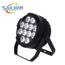 цена на 4X LOT Quite No Fan Aluminum Wireless LED Par Can 12*18W 6in1 RGBAW UV LED Par Light DMX Stage Light Par Projector With Powercon