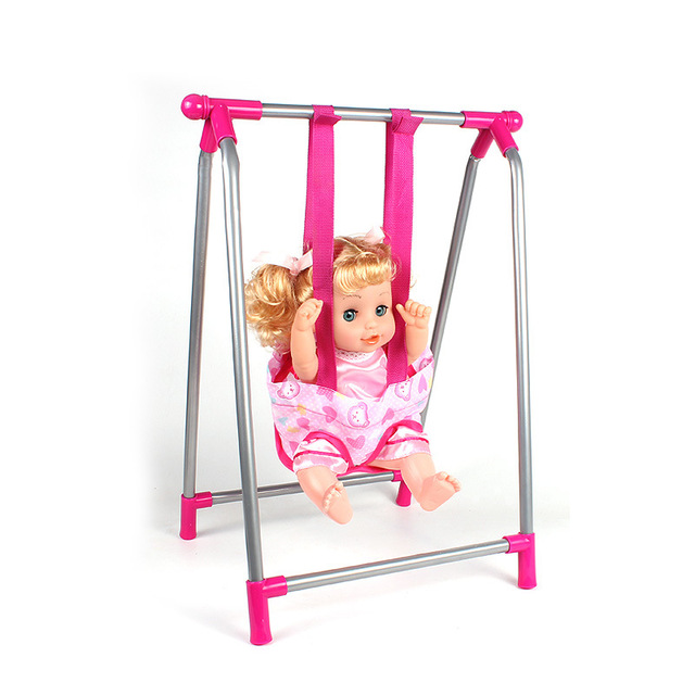 Child Pretend Play Toys Dollhouse Miniatures Furniture Toys Girl Play House Toy Stroller Baby Birthday Gifts 2-7years Old