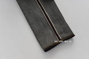 Image 4 - BOB DONG Schwarz Schwergewicht Selvage Denim 23 unzen Jeans Für Männer Regelmäßige Gerade Fit