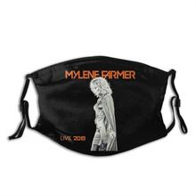 Mylene Farmer Funny Print Reusable Pm2.5 Filter Face Mask