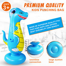 Cartoon Animal Shape Inflatable Thickened Punching Boxing Bag For Kids Fitness Tumbler Bag Standing Toys Indoor Outdoor Sports