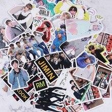 KPOP Bangtan наклейки для мальчиков дневник календарь альбом Скрапбукинг хлопья наклейки руководство украшения канцелярские принадлежности веер подарки