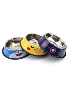 Pet-Feeder Bowl Water-Bottle-Food Cat Stainless-Steel Chien Cartoon Dog-Pot Gamelle