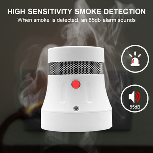 Image 4 - CPVan detektor dymu WiFi Alarm przeciwpożarowy Tuya/Smart Life APP detektor ognia czujnik dymu wysoka czułość niski poziom naładowania baterii przypomnienie