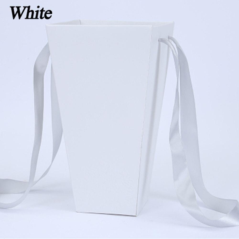 165*120 мм новые круглые бумажные коробки для цветов с крышкой, ведерко для цветов, подарочная упаковочная коробка, подарочные коробки для конфет, вечерние, Свадебные Поставки - Цвет: B(white)