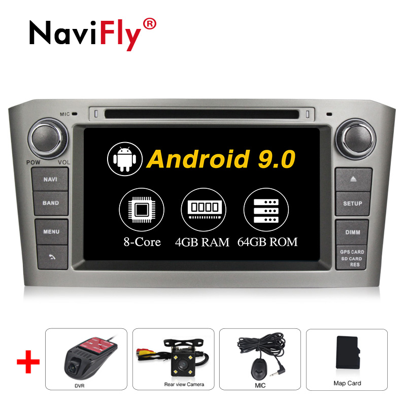PX5 Octa Core Android9.0 4G RAM 64G ROM Car Multimedia Audio for <font><b>Toyota</b></font> Avensis/<font><b>T25</b></font> 2003-2008 Radio GPS Navigation Video 4G WIFI image