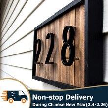 125mm pływający numer domu litery duże nowoczesne drzwi alfabet domu na zewnątrz 5 cali czarne numery tablica adresowa Dash Slash znak #0-9