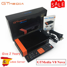 Buy Gtmedia V8 NOVA from Freesat V8 Super TV Receiver Receptor Support built-in WIFI H.265 DVB-S2 cline cccam Box Spain tv decoder directly from merchant!