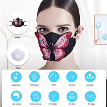 KN95 Face Mask Safety Anti Dust Droplets Pollen Fashion Mask PM 2.5 95% Filtration 6Layer Protection with 2PCS KN95 Filter(China)
