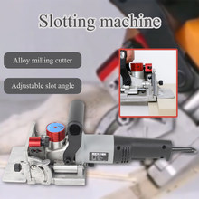 Lamino Slotting Machine Woodworking Vertical Hole Punch Furniture Cabinet Connector Installation Biscuit Joiner Tenon Maker Tool