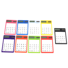 Hot 8 Digit Touch Screen Ultra slim Transparent Solar Stationery Clear Scientific Calculator use for Student School Office