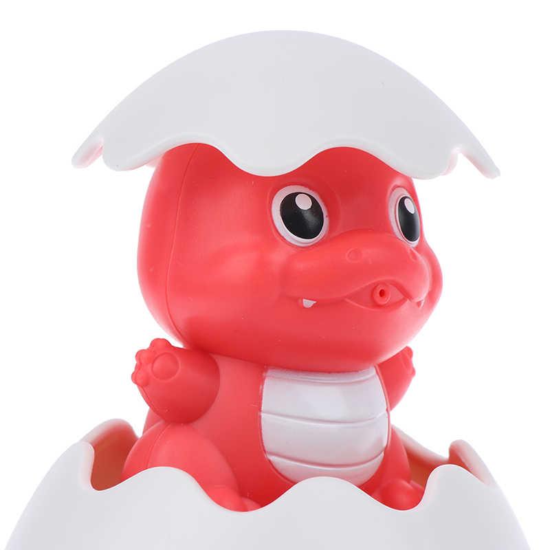 Blu/Rosso Dinosauro Giocare Acqua Giocattolo per Bambini Divertente Tempo Del Bagno Bagno Sprinkler Giocattoli Del Bambino Uovo di Pioggia Vasca da Bagno Giocattolo