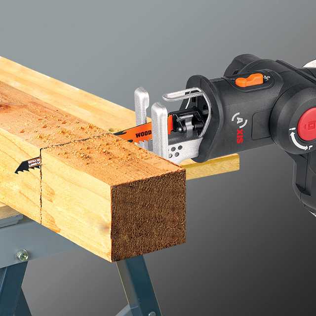Worx 20V Electric Saw WX550 Cordless Reciprocating Saw jigsaw 2in1 Rechargeable Scroll Saw Multi purposed saw Handheld PowerTool 3