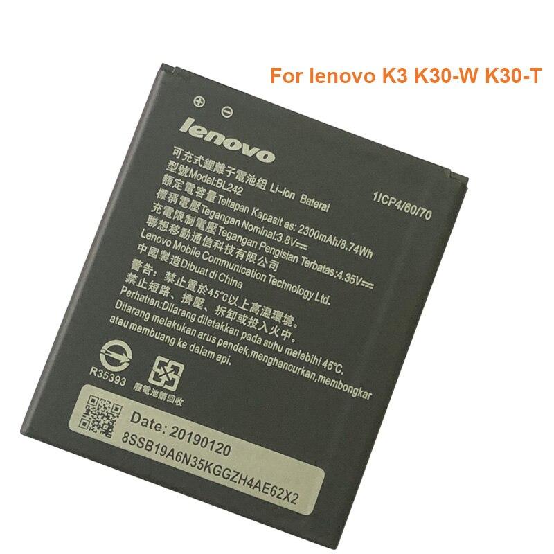 BL 242 BL242 Battery For Lenovo K3 K30-W K30-T A6000 A3860 A3580 A3900 A6010 A6010 Plus Batterie Bateria Accumulator