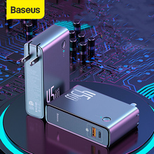 Baseus Power Bank 45W 10000mAh GaN Charger 2 in 1 PD QC 3.0 AFC Fast Charging USB Charger For iPhone Samsung For Macbook Pro