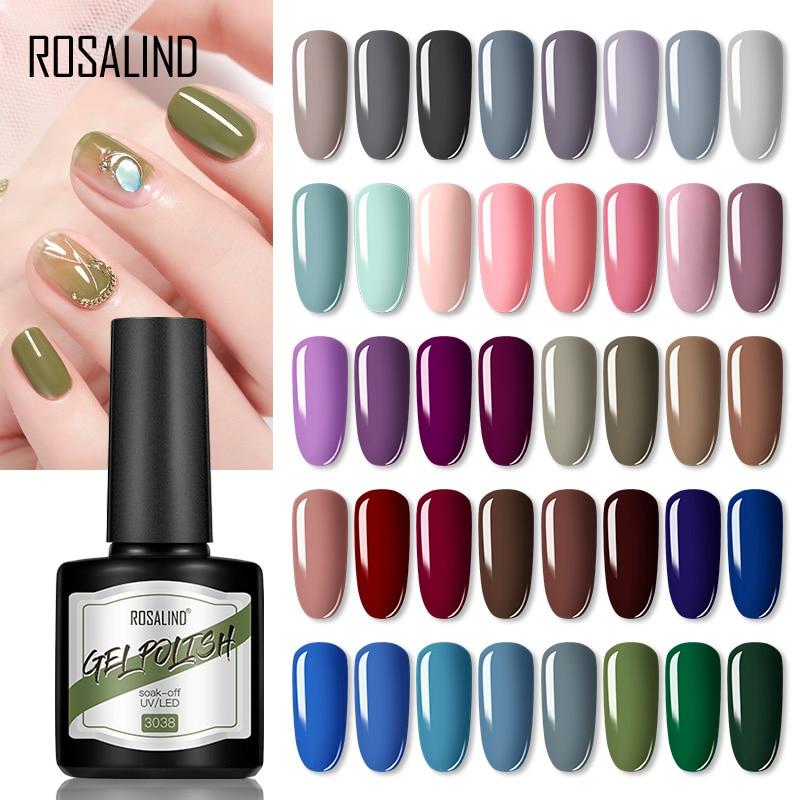 Гель-лак ROSALIND полуперманентный для ногтей, гибридный базовый верхний слой для дизайна ногтей Mnicure