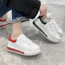 little white shoes 2020 new women s shoes korean version of the trend of wild breathable sports casual shoes spring and autumn Breathable white shoes female inner increase 2020 new Korean version of the wild casual thick bottom 2019 explosive sports shoes
