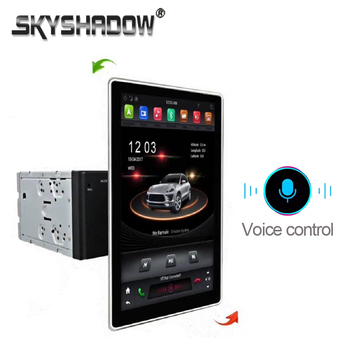 Tesla Style Voice Control PX6 IPS 1920*1080 Car DVD Player Android 8.1 4G +32G GPS Radio Wifi Bluetooth 5 for universal 2Din