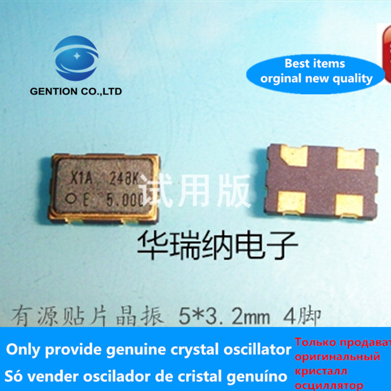 5pcs 100% Orginal New SG-5032CCN 5M 5MHZ 5.000MHZ Industrial Wide Temperature 5032 Active SMD Crystal