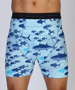 Image 3 - 2019 New Exofficio Underwear Men Sport Mesh Print 6inch Boxer Man Tight Underwear Quick Dry Ultra Light Mens Boxer USA Size M XL