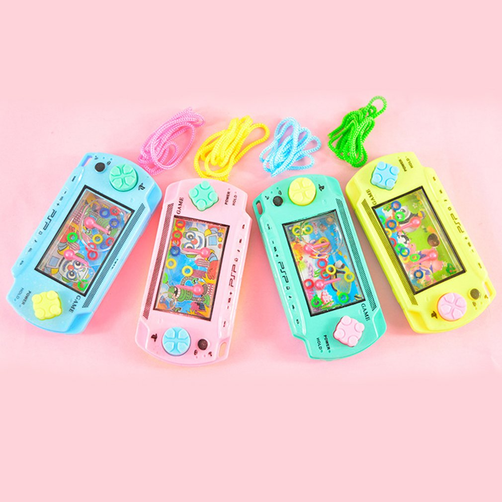 Cultivate Kid Thinking Ability Toys Water Ring Toss Child Handheld Game Machine Parent-Child Interactive Game Toys Random Color