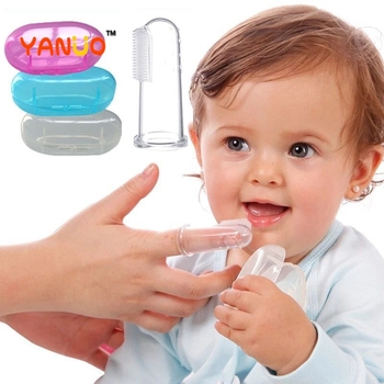 Baby Teether Baby Products Baby Finger set Toothbrush Oral Cleaning Infant Soft Silicone Finger Healthy Toothbrush Free Box 1