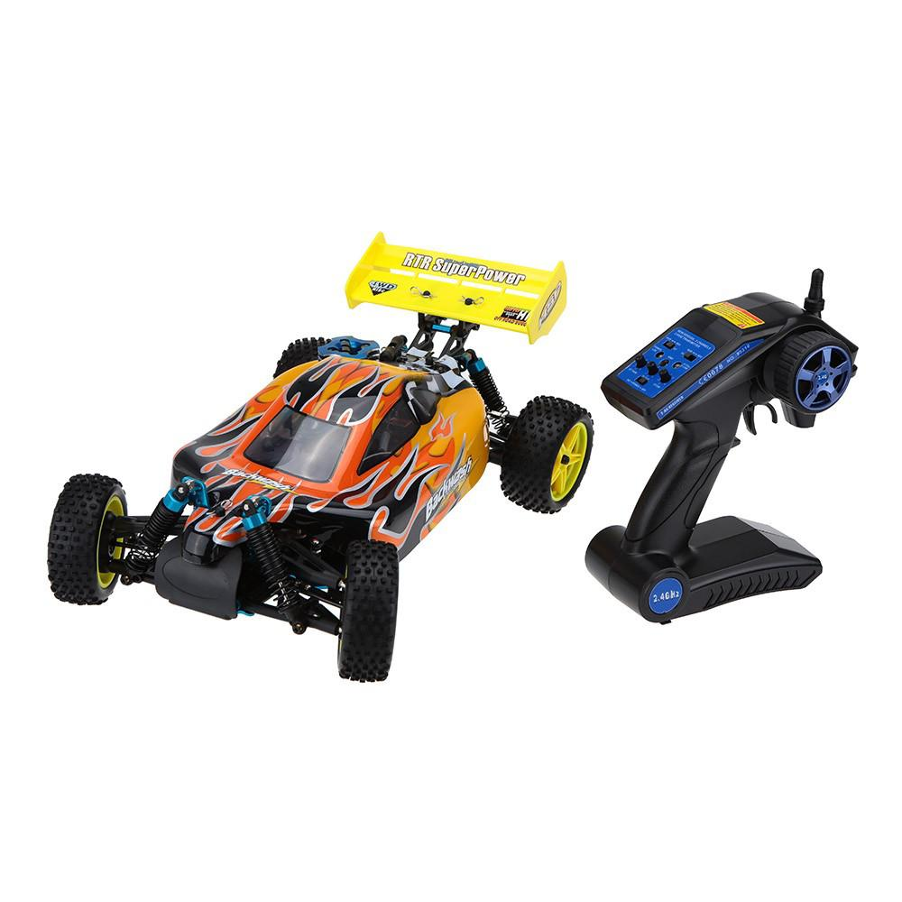 RCtown HSP Baja 1/10th Scale Nitro Power Off Road Buggy 4WD RC Hobby Cars 94166 with 18cxp Engine 2.4G Radio Control image