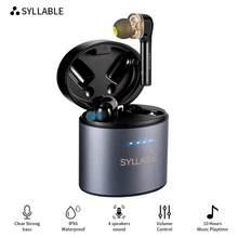 Original SYLLABLE S119 bluetooth V5.0 bass earphones wireless headset noise reduction SYLLABLE S119 Volume control earbuds(China)