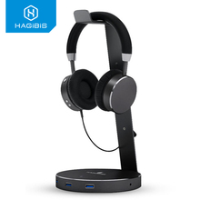 Hagibis Hub Usb 3.0 3 Ports Spillter Headset Headphone Stand Holder Winding Line High Speed