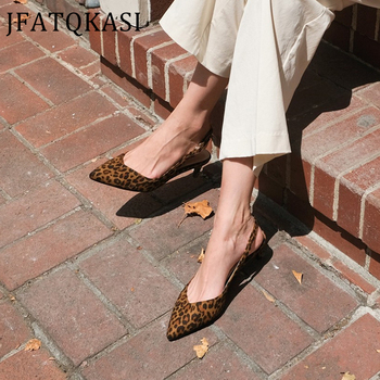 Women High Heels Summer Sexy Leopard Print Pointed Female Pumps Fashion Brand Thin Heel Buckle Ladies Shoes Plus Size 2020 New 2018 new plus big size 34 47 yellow multi buckle zip fashion sexy high heel spring summer female lady shoes women pumps d1177 page 8