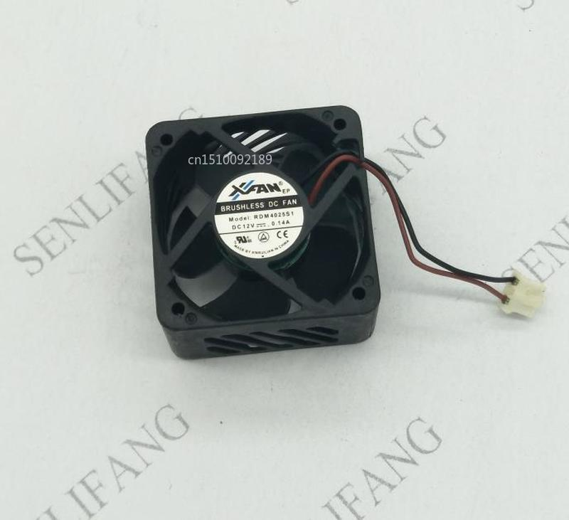 For RDM4025S1 Rdm4025s1 4025 12V 0.14A 40X40X25MM 40*40*25mm 2Pin 2wire Cooling Fan