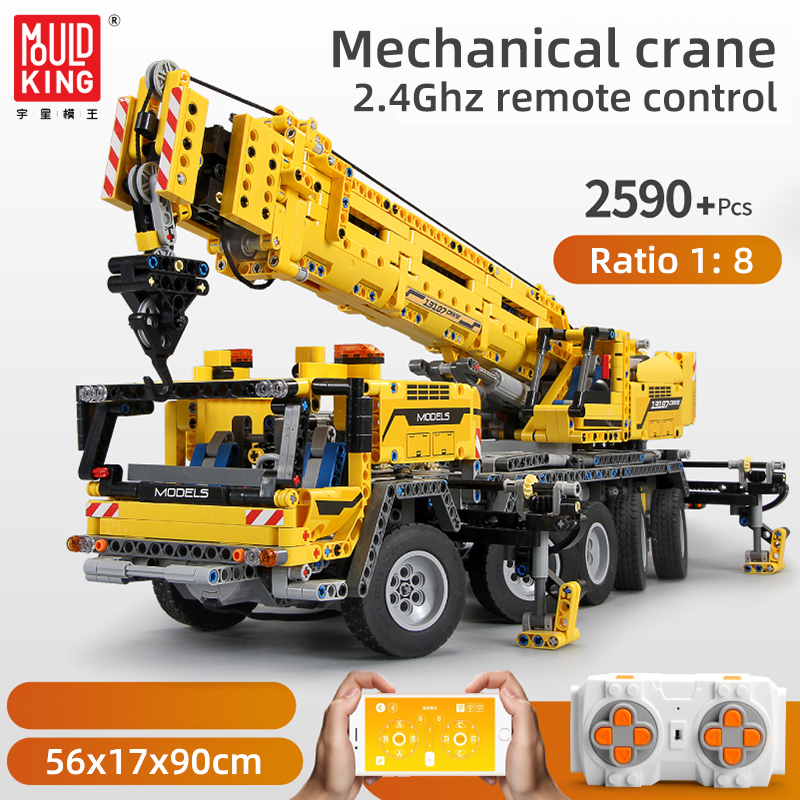 Mould king Technic APP RC Motor Power Mobile Crane Mk II Model Kits Building Blocks Bricks Compatible lepining <font><b>42009</b></font> Gifts Toys image