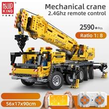 Mould king Technic APP RC Motor Power Mobile Crane Mk II Model Kits Building Blocks Bricks Compatible lepining 42009 Gifts Toys
