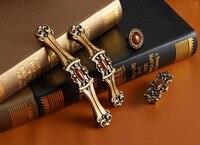 Nueva manija para gabinetes/Tirador de Jade de bronce clásico europeo de alta calidad