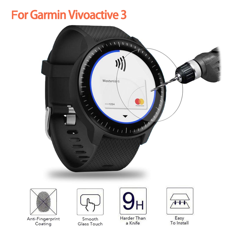 Ultra Clear Tempered Glass For Garmin Vivoactive 3 Music Screen Protector Protective Film Guard Watch Vivoactive3 Display Cover