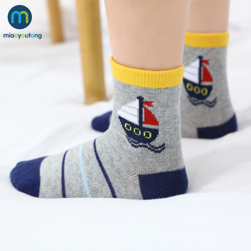 5 Pairs/Lot Boat Cartoon Soft Cotton Baby Boy Kids Children's Socks For Girls New Year's Socks Warm Socks Women's Miaoyoutong 3