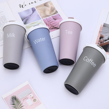 500ML Stainless Steel Coffee Mug Thermos Cups Vacuum Flasks Thermo Bottle Thermos Bottle Thermocup Travel Coffee Mugs With Straw thermos bottle 350 ml coffee mug stainless steel creative cute rabbit bear outdoor school office travel mugs thermos bottle mug
