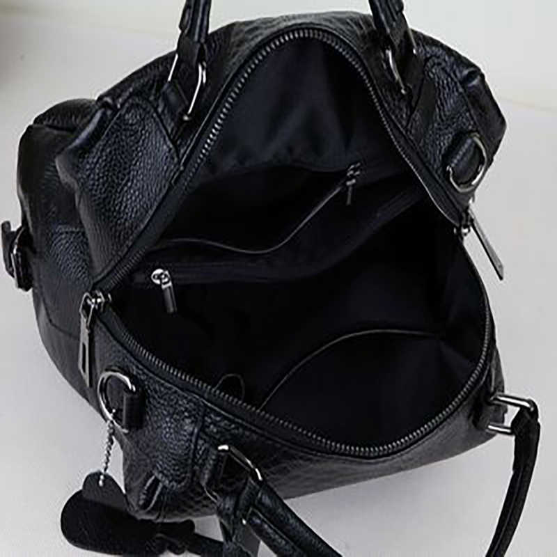 Grandi Sacchetti di Cuoio Genuini borse di lusso di spalla delle signore del progettista di Marca Famosa crossbody per 2019 Donne nere femminili morbido Tote