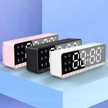 Беспроводной bluetooth динамик Внутренние светодиодные часы