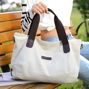 Image 5 - KVKY Large Capacity Womens Canvas Handbag Casual Canvas Shoulder Bags Vintage Crossbody Messenger Bags Female Tote Bags Trapeze