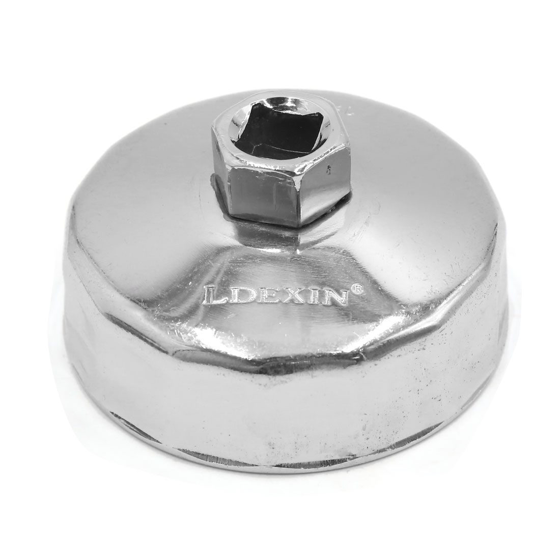 Uxcell a17042500ux0690 79mm Inner Dia 15 Flute Oil Filter Cap Wrench Socket Removal Tool for Auto Car