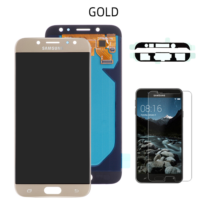 Original AMOLED LCD for SAMSUNG Galaxy J7 Pro Display Touch Screen J730 J730F For SAMSUNG J7 2017 Display LCD Screen Replacement