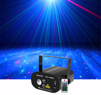 Sharelife Red Green Laser Star with RGB LED Dynamic Watermark Effect DJ Remote Laser Stage Light Home Gig Party Show Lighting