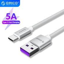 Orico 5A USB Type C Câble pour Huawei Mate 20 10 Pro P30 P20 Téléphone Portable USBC Charge Rapide USB-C Rapide Câble De Charge pour Xiaomi