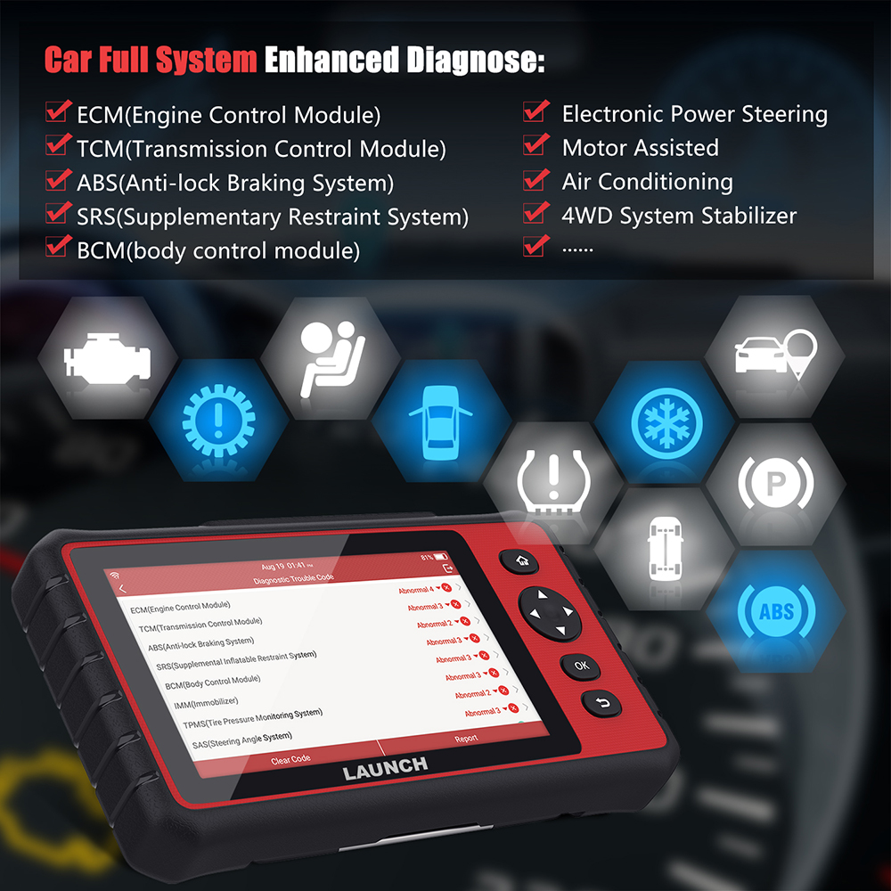 Image 3 - Launch x431 CRP909 Full System Wifi OBD2 Scanner DPF TPMS SAS EPB Oil Reset PK MK808 OBD 2 Automotive Scanner Car Accessories on