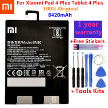 Оригинальный Xiao Mi планшет, запасная батарея BN80 для Xiaomi Pad 4 Plus Tablet 4 Plus, высокая емкость 8420 мАч, аккумуляторы + наборы инструментов